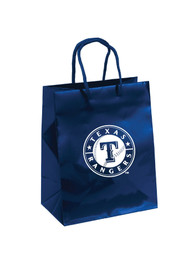 Texas Rangers 10x12 Blue Medium Metallic Blue Gift Bag