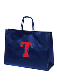 Texas Rangers 16x12 Blue Large Metallic Blue Gift Bag