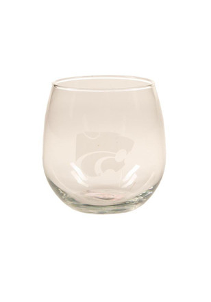 K-State Wildcats Stemless Etched Stemless Wine Glass