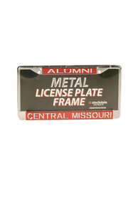 Central Missouri Mules Silver Metal License Frame