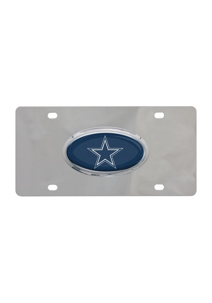Dallas Cowboys Stainless Steel Car Accessory License Plate - Image 1