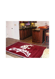Washington State Cougars 4x6 Interior Rug
