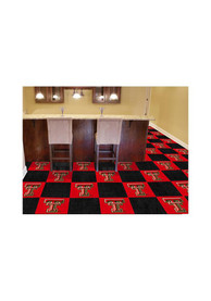 TTech Red Raiders 18x18 Team Tiles Interior Rug