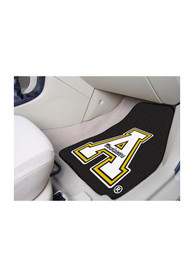 Sports Licensing Solutions Appalachian State Mountaineers 2-Piece Carpet Car Mat - Black