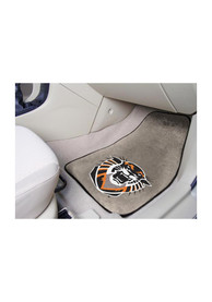 Sports Licensing Solutions Fort Hays State Tigers 2-Piece Carpet Car Mat - Grey