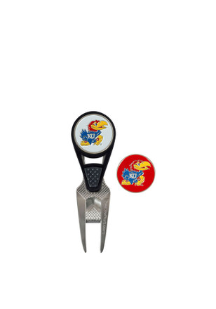 Kansas Jayhawks Repair Tool and Ball Marker Divot Tool