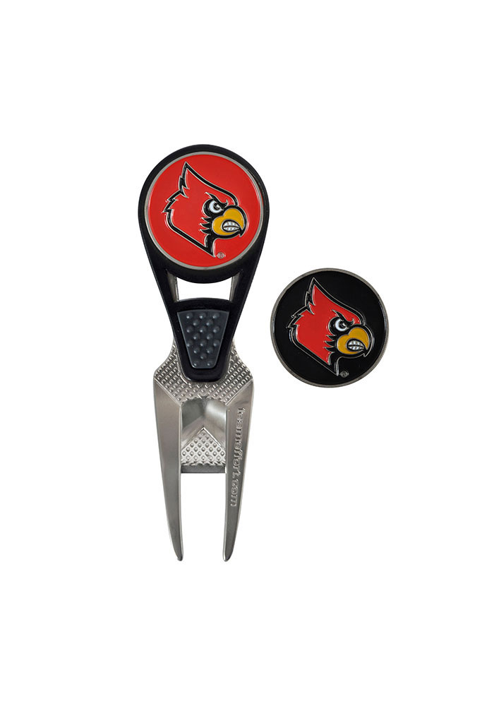 Louisville Cardinals Repair Tool and Ball Marker Divot Tool - Image 1