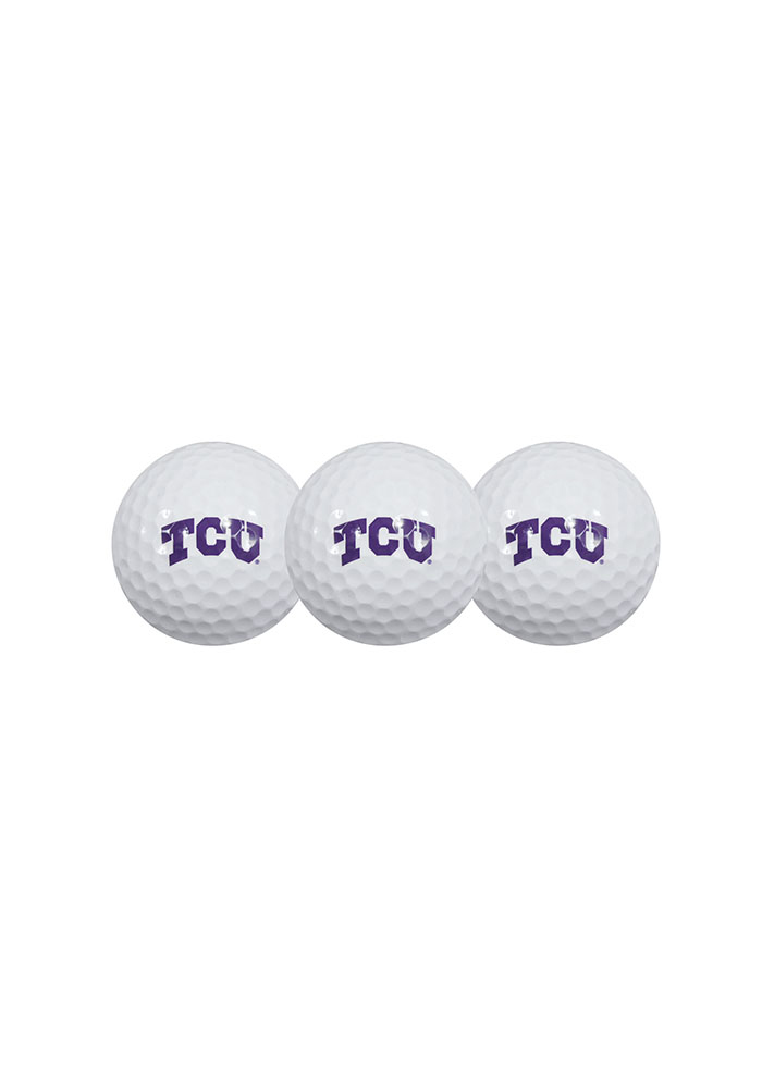 TCU Horned Frogs 3-Pack Golf Balls - Image 1