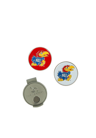 Kansas Jayhawks Interchangeable Ball Marker Cap Clip