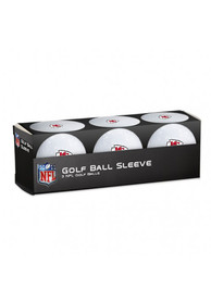 Kansas City Chiefs 3 Pack Golf Balls