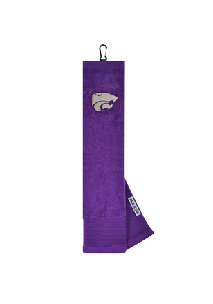 K-State Wildcats 16x24 Purple Embroidered Tri-Fold Golf Towel