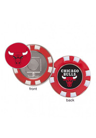 Chicago Bulls Poker Chip Golf Ball Marker