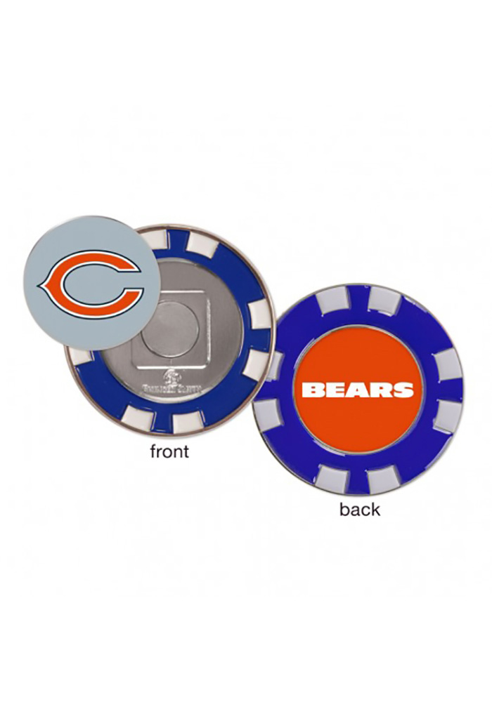 Chicago Bears Poker Chip Golf Ball Marker - Image 1