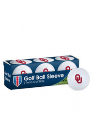 Oklahoma Sooners 3 Pack Golf Balls