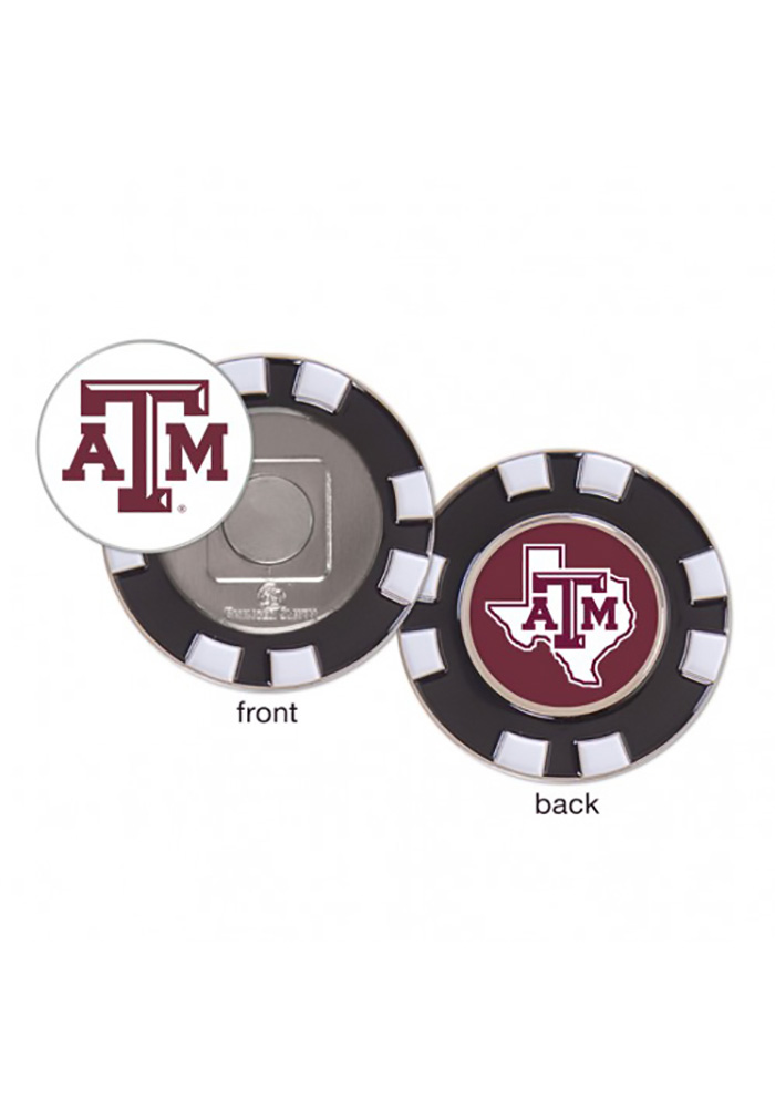 Texas A&M Aggies Poker Chip Golf Ball Marker - Image 1