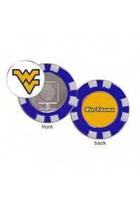 West Virginia Mountaineers Poker Chip Golf Ball Marker