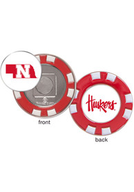 Nebraska Cornhuskers Poker Chip Golf Ball Marker