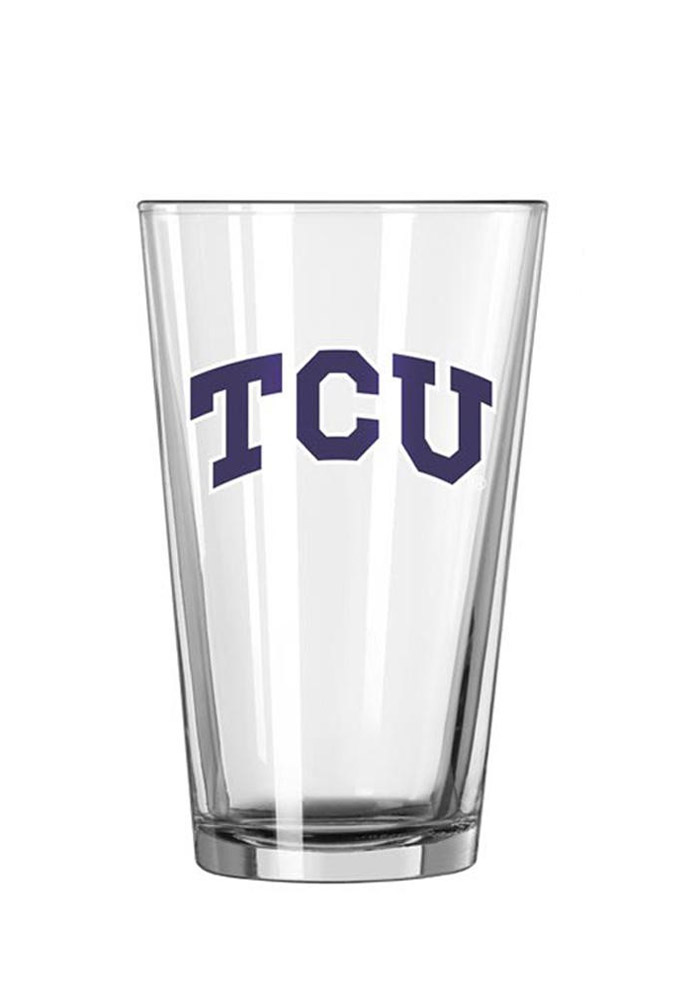 TCU Horned Frogs Arched Wordmark Pint Glass - Image 1