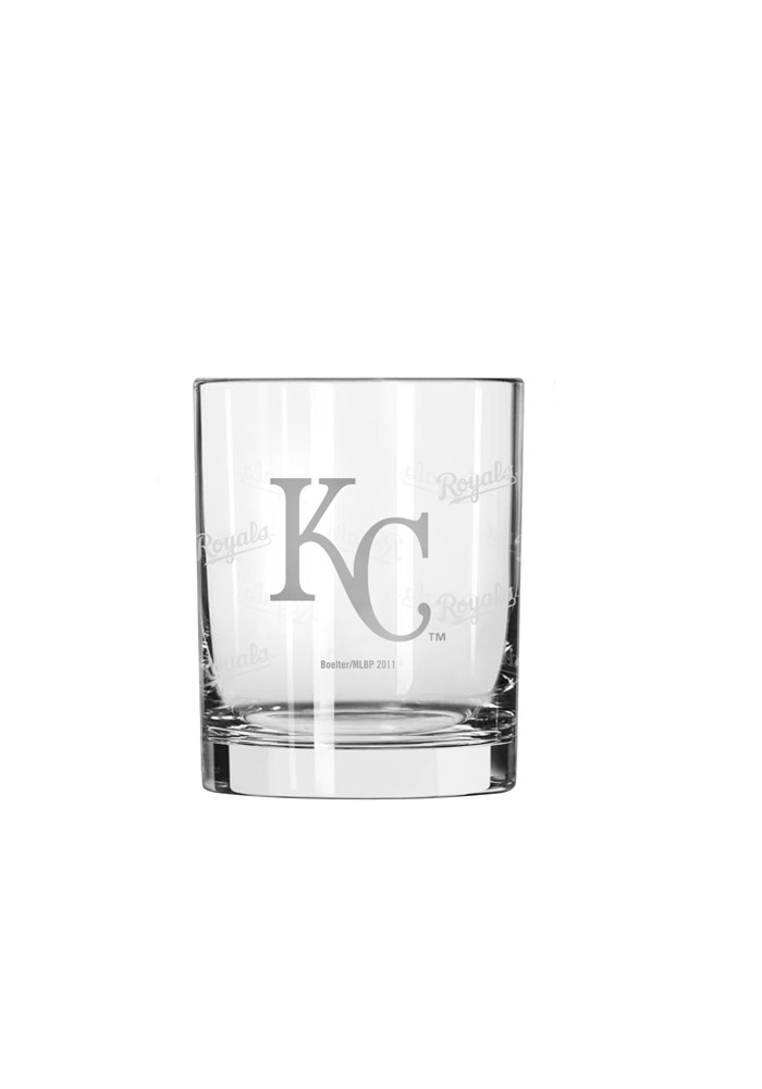 Kansas City Royals Frosted Logo Rock Glass - Image 1