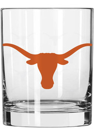 Texas Longhorns Frosted Logo Rock Glass