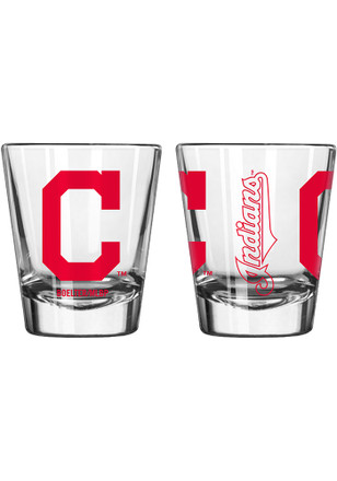 Cleveland Indians 2oz Clear Shot Glass