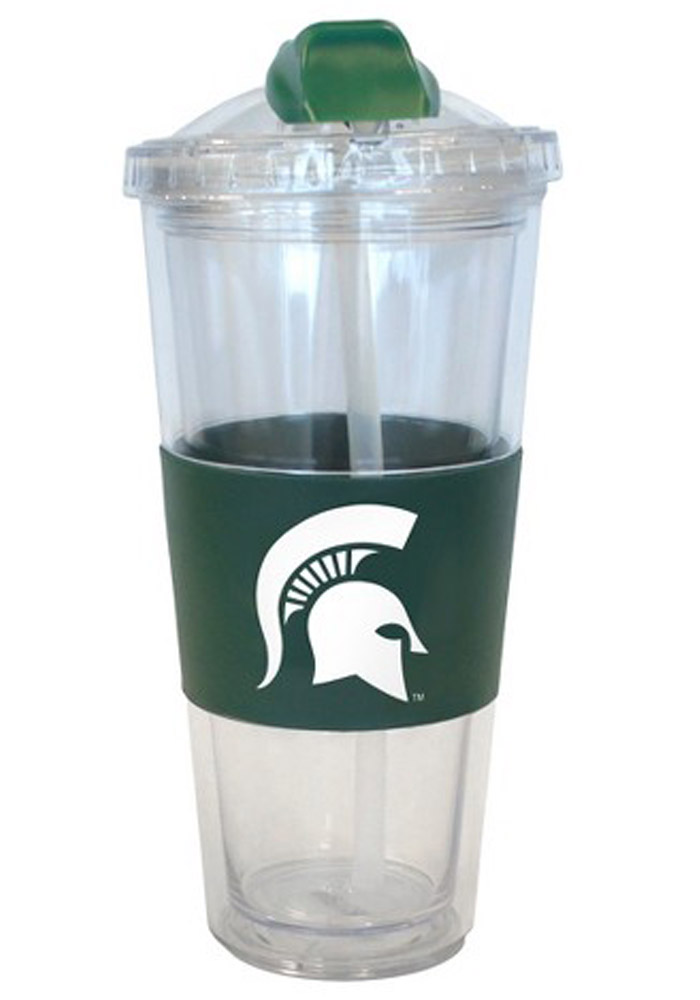 Michigan State Spartans 22oz No Spill Straw Tumbler - Image 1