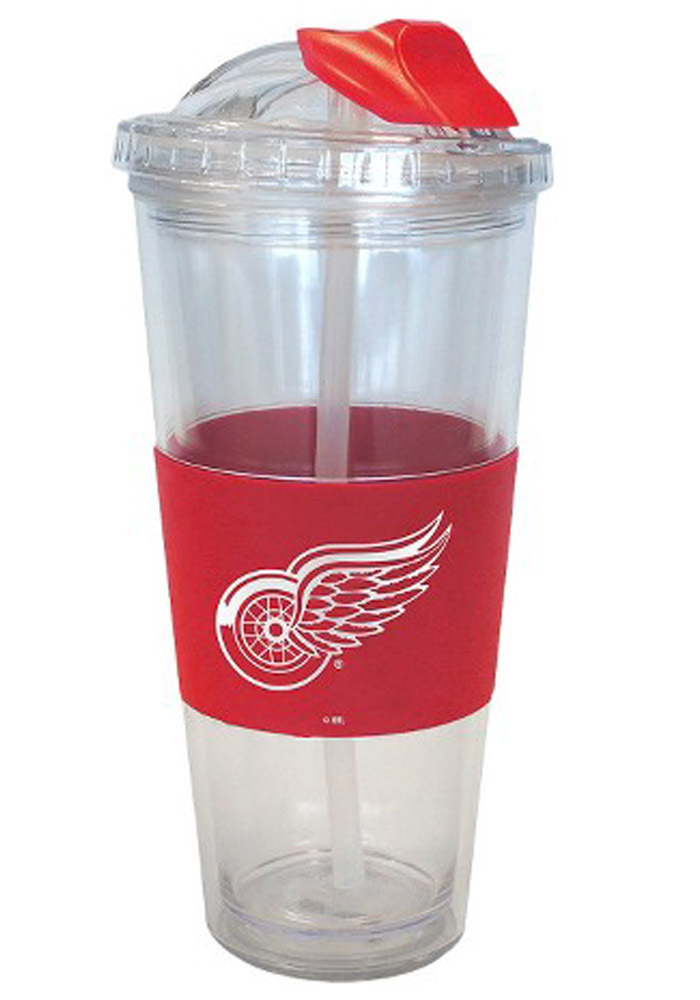 Detroit Red Wings 22oz No Spill Straw Tumbler - Image 1