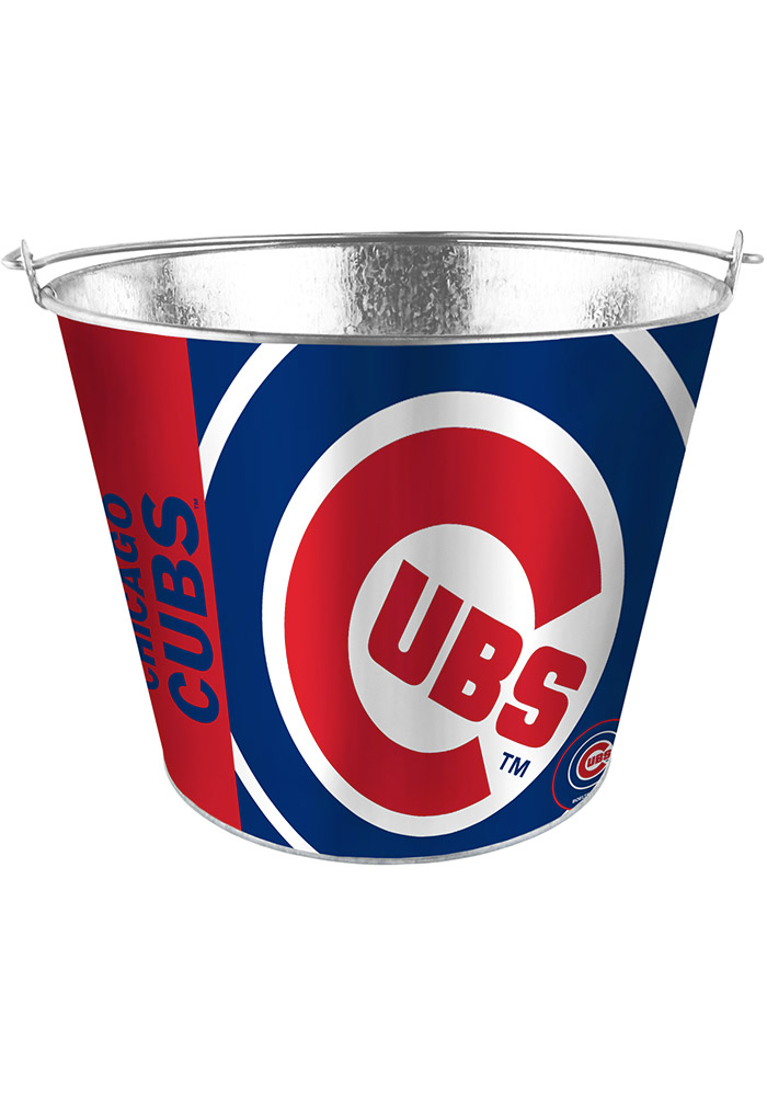 Chicago Cubs 5QT Full Wrap Galvanized Bucket - Image 1