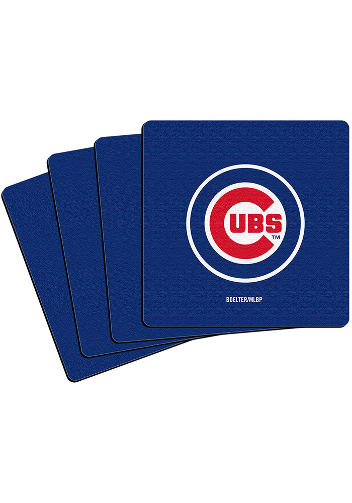 Chicago Cubs 4 Pack Neoprene Coaster - Image 1