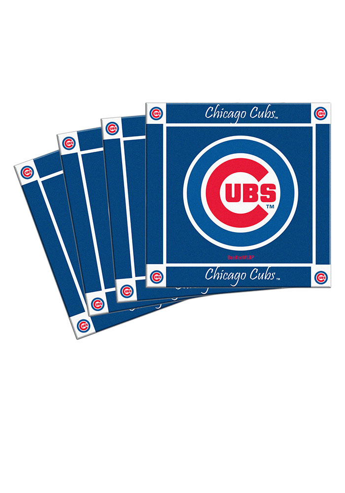 Chicago Cubs 4 Pack Ceramic Coaster - Image 1