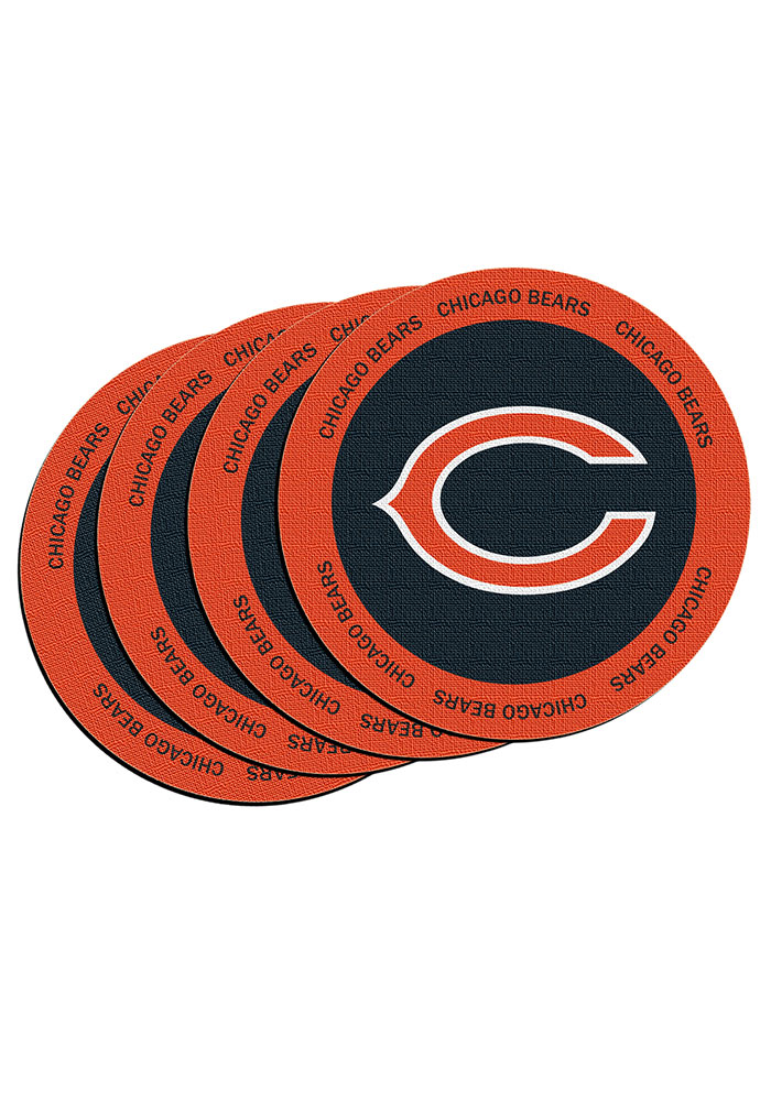 Chicago Bears 4 Pack Ring of Honor Coaster - Image 1