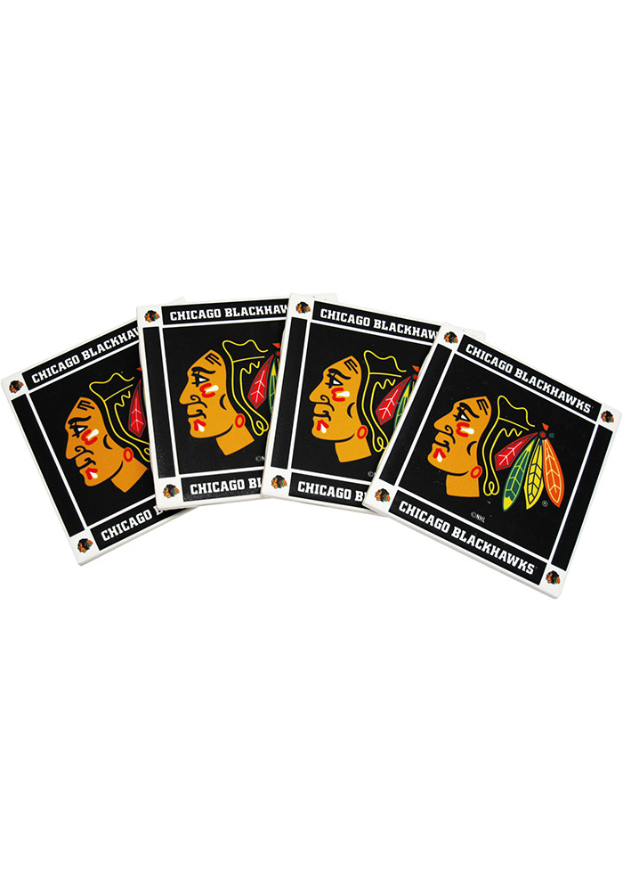 Chicago Blackhawks 4 Pack Ceramic Coaster - Image 1