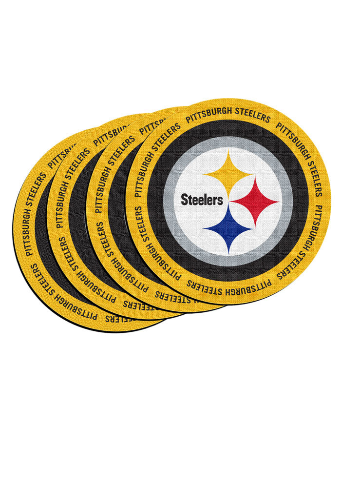 Pittsburgh Steelers 4 Pack Ring of Honor Coaster - Image 1