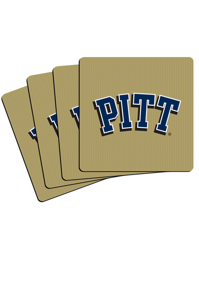 Pitt Panthers 4 Pack Neoprene Coaster - Image 1
