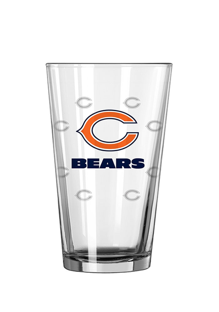 Chicago Bears 16oz Logo Satin Etch Pint Glass - Image 1
