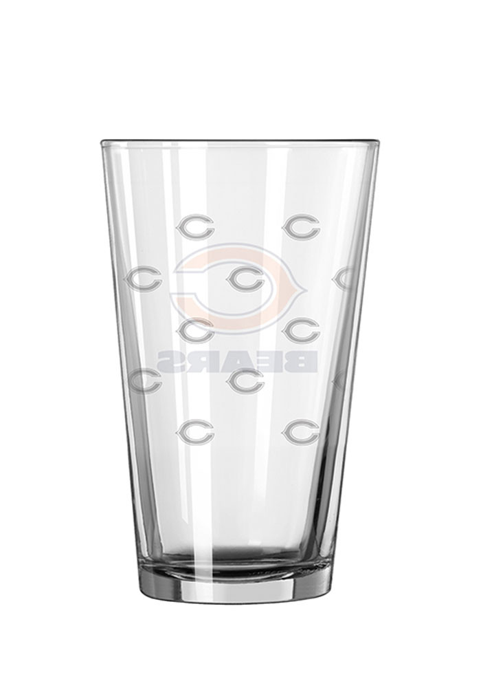 Chicago Bears 16oz Logo Satin Etch Pint Glass - Image 2