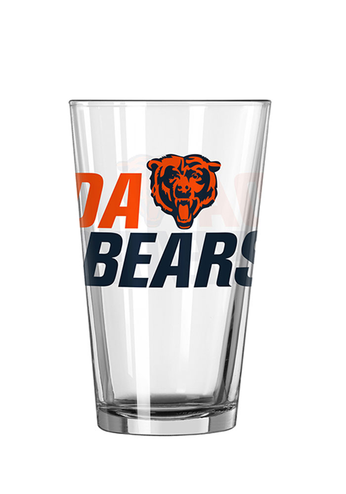 Chicago Bears 16oz Slogan Pint Glass - Image 1