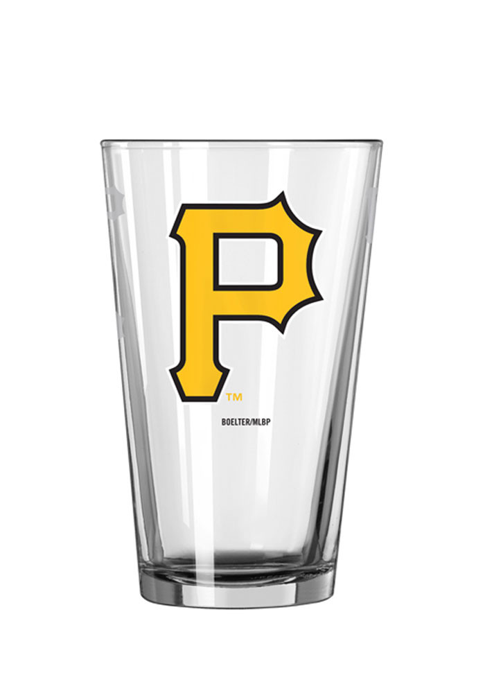 Pittsburgh Pirates 16oz Logo Satin Etch Pint Glass - Image 1