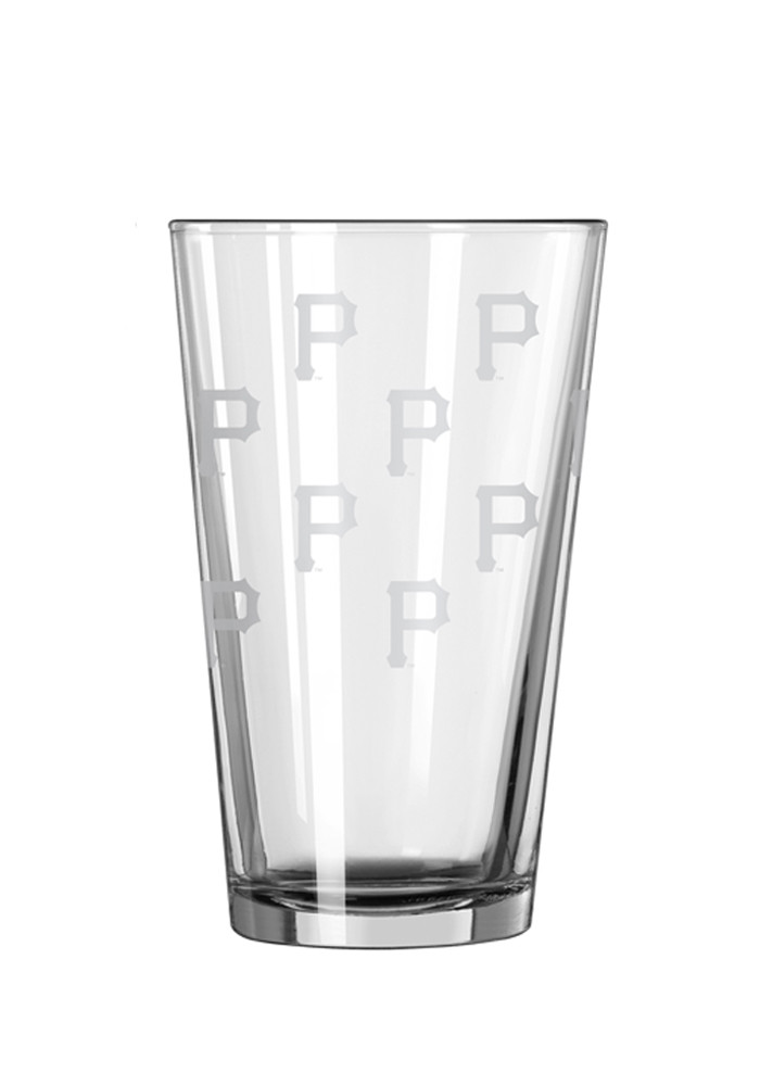 Pittsburgh Pirates 16oz Logo Satin Etch Pint Glass - Image 2