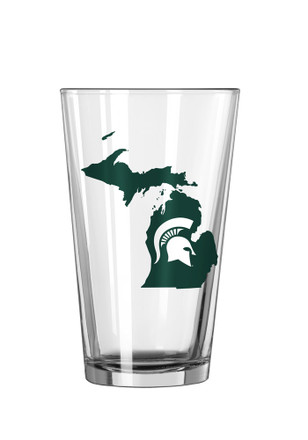 Michigan State Spartans State Logo Pint Glass