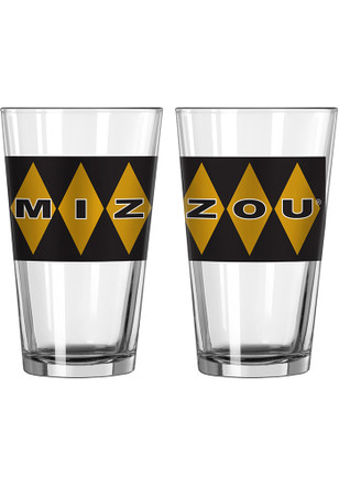 Missouri Tigers Argyle Pint Glass