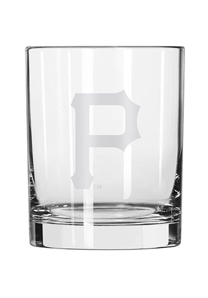 Pittsburgh Pirates 14oz Satin Etch Rock Glass - Image 1