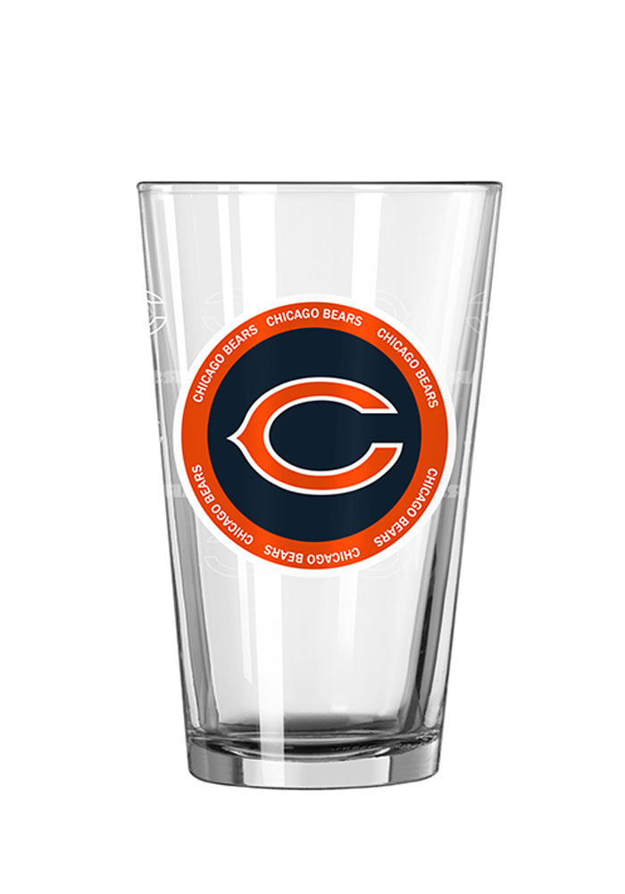 Chicago Bears 16oz Ring of Honor Pint Glass - Image 1
