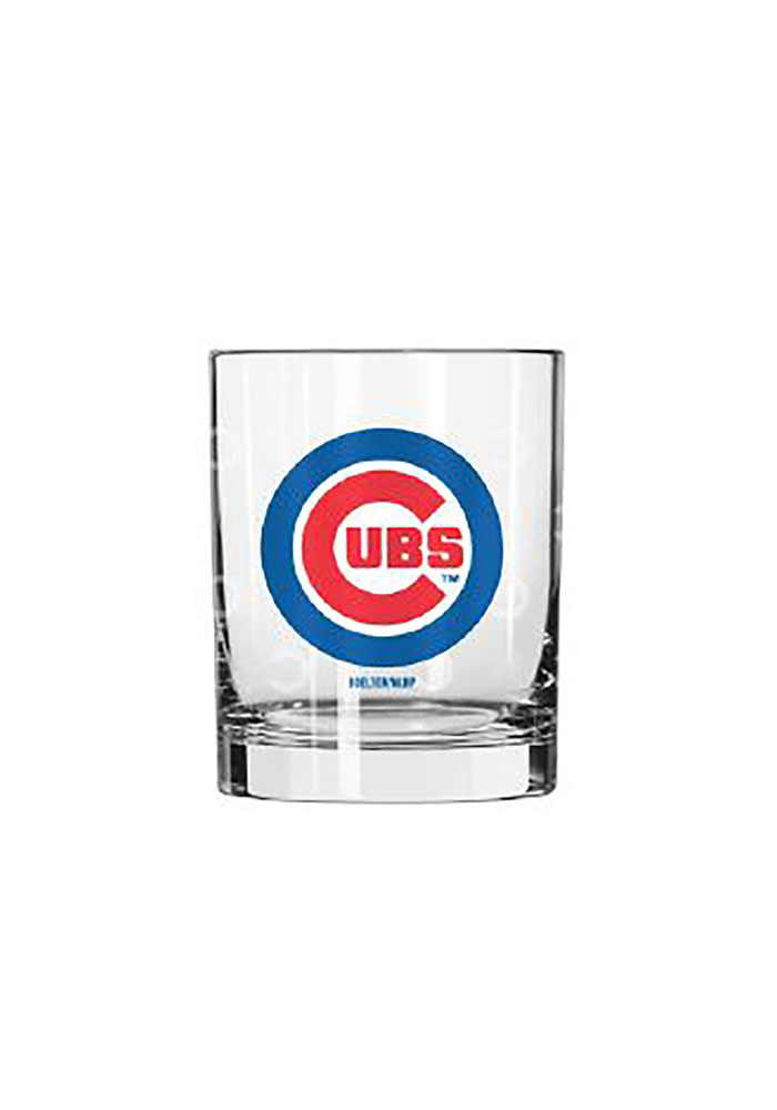 Chicago Cubs 14oz Satin Etch Rock Glass - Image 1