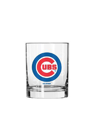 Chicago Cubs 14oz Satin Etch Rock Glass