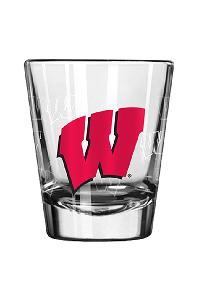 Wisconsin Badgers 2oz Satin Etch Shot Glass - Image 1