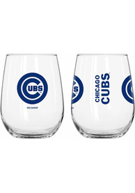 Chicago Cubs 16oz Gameday Logo Stemless Wine Glass