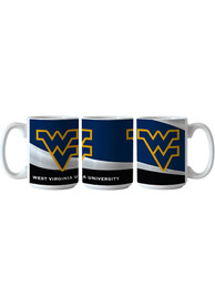 West Virginia Mountaineers 15oz Basic Wave Ceramic Mug