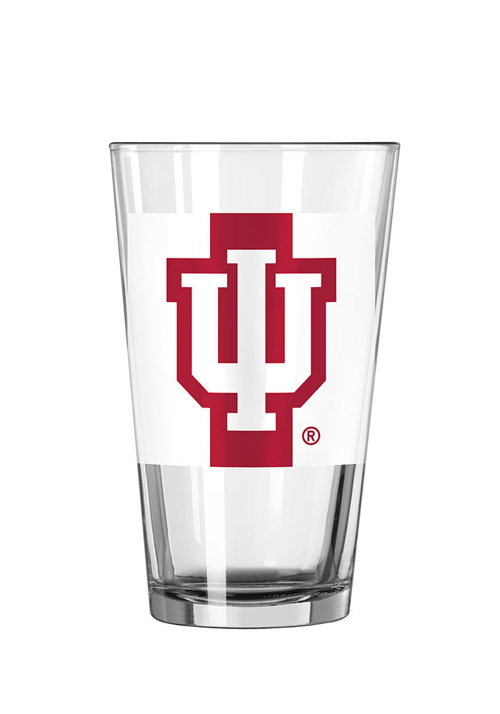 Indiana Hoosiers Striped Pint Glass - Image 1