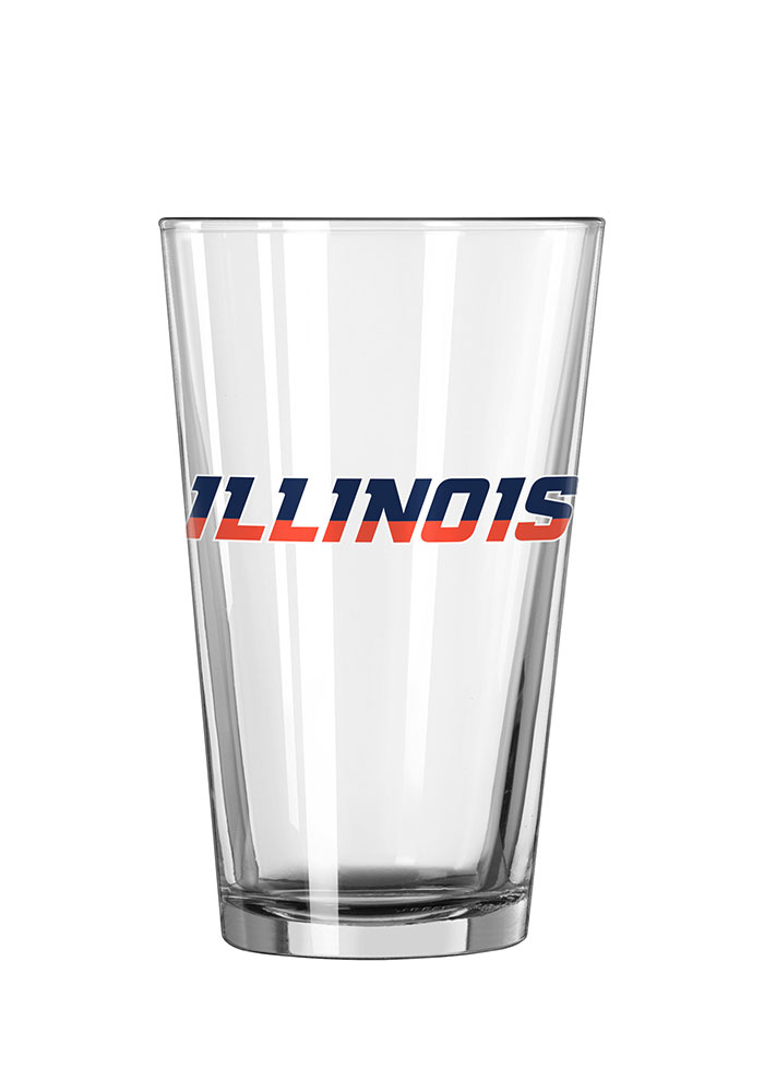 Illinois Fighting Illini Wordmark Pint Glass - Image 1
